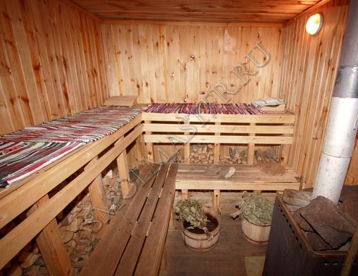 фото отделка бани вагонкой