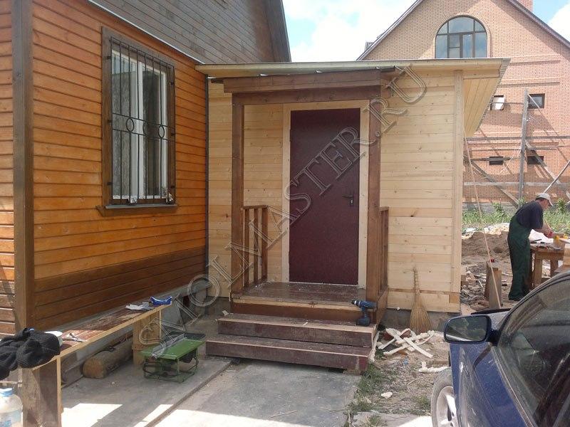 Пристройка крыльца к деревянному дому своими руками